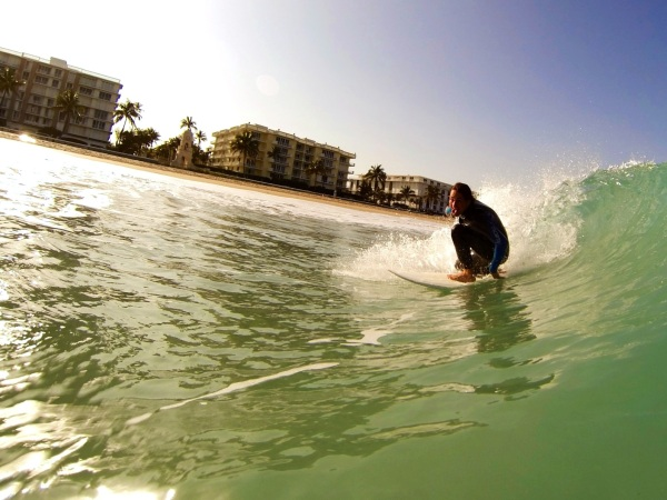 Wave Sliding in Palm Beach
